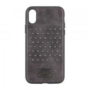 Кожаный чехол Polo Staccato серый для iPhone X