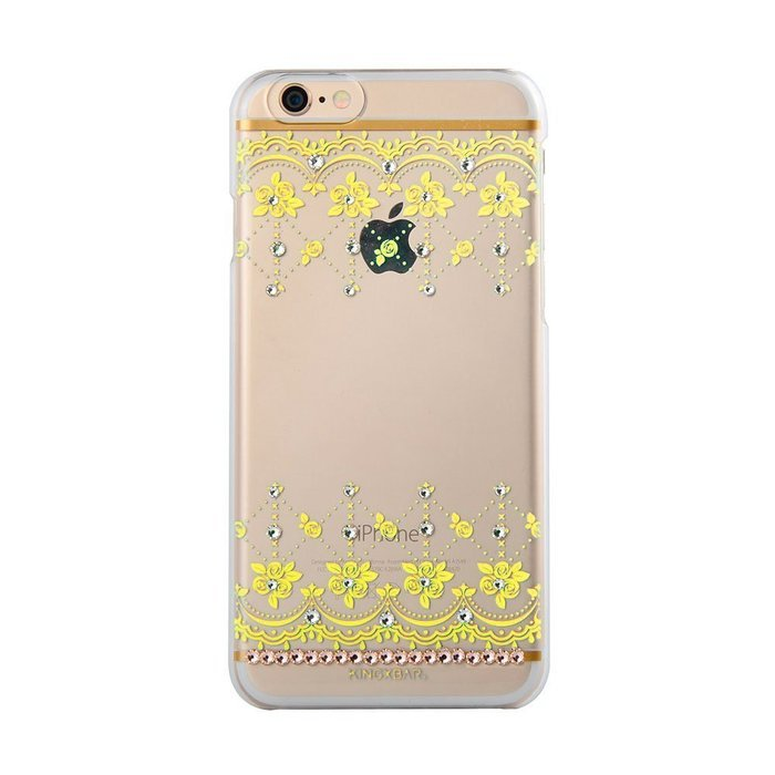 Чехол-накладка для Apple iPhone 6/6S - Kingxbar Roses желтый