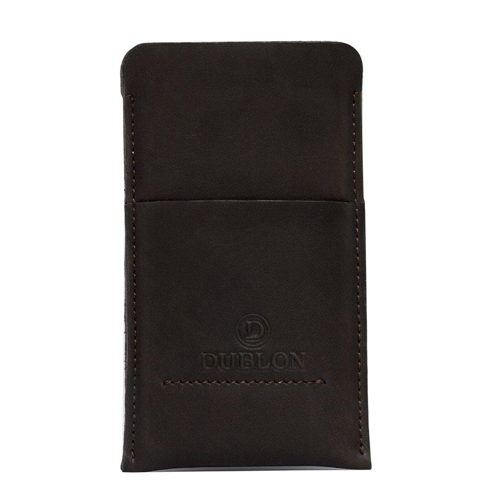 Чехол-карман для Apple iPhone 6 Plus - Dublon Leatherworks Britain 2 коричневый