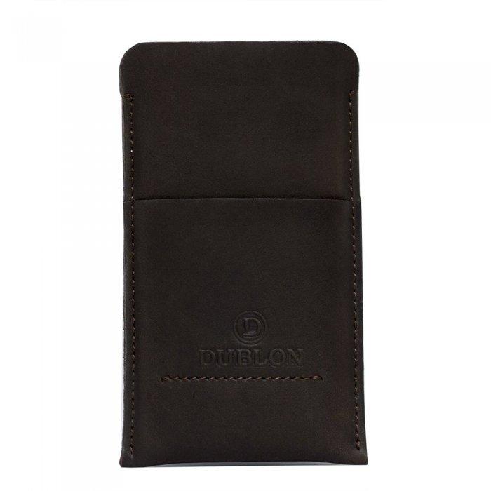 Чехол-карман Dublon Leatherworks Britain-2 коричневый для iPhone 6 Plus/6S Plus
