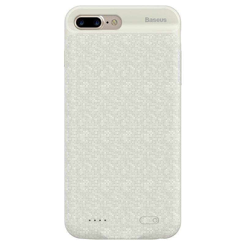 Чехол-аккумулятор Baseus Plaid Backpack 7300mAh белый для iPhone 7 Plus/8 Plus