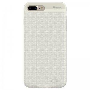 Чехол-аккумулятор Baseus Plaid Backpack 7300mAh белый для iPhone 7 Plus