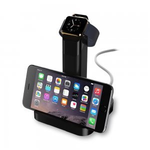 Док-станция для Apple Watch, iPhone 5/5S/5C/SE/6/6S/6 Plus/6S Plus - WatchStand черная