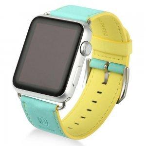 Ремешок Baseus Colorful зеленый + желтый для Apple Watch 42/44 мм