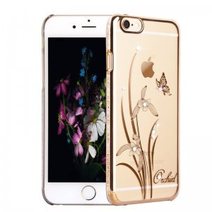 Чехол-накладка для Apple iPhone 6/6S - Kingxbar Foliflora Orchid