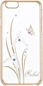 Чехол-накладка для Apple iPhone 6/6S - Kingxbar Foliflora Orchid