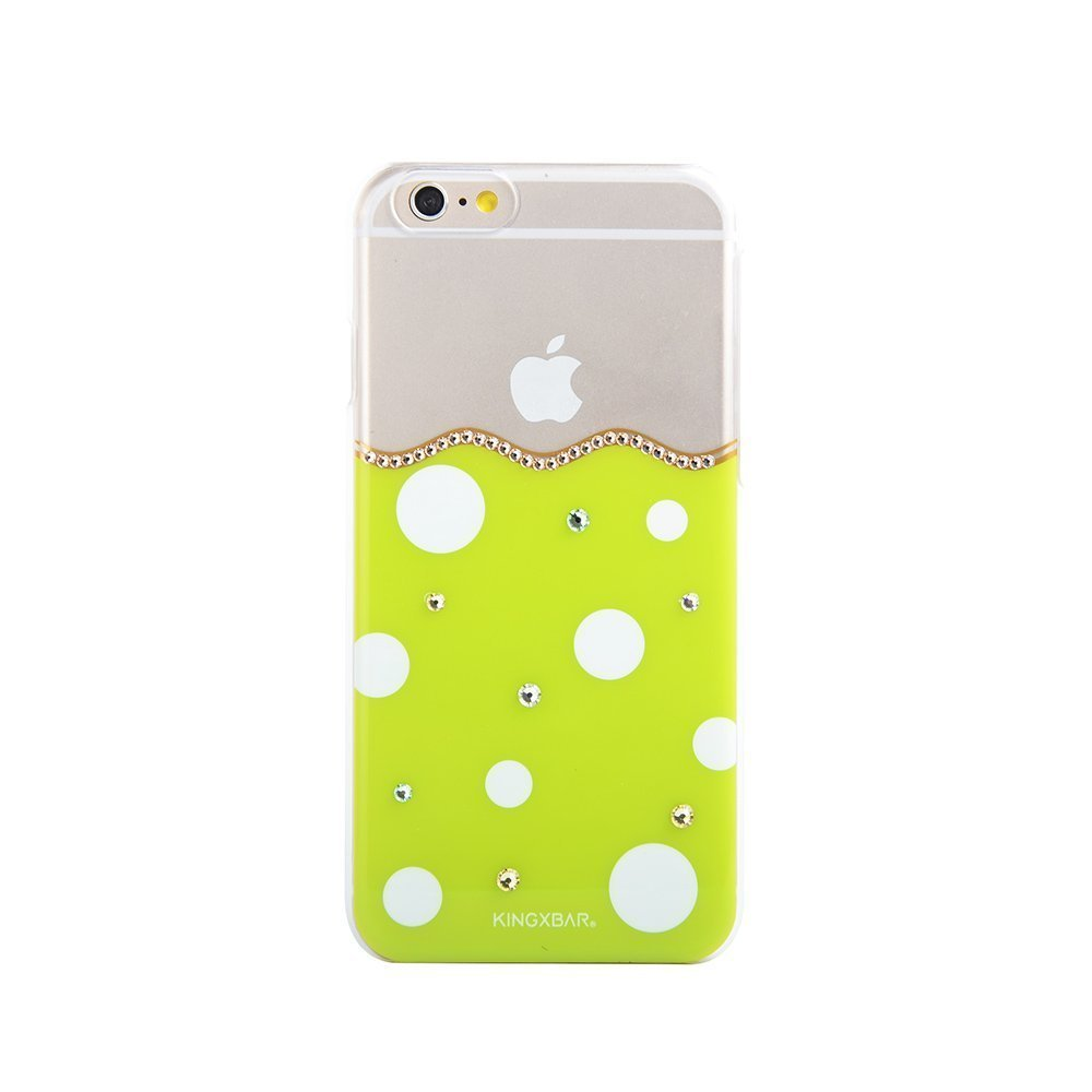 Чехол-накладка для Apple iPhone 6/6S - Kingxbar Polka-Dot зеленый