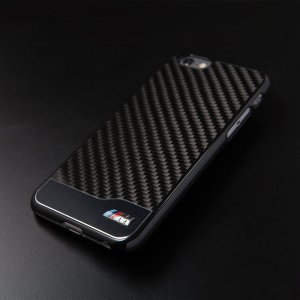 Чехол-накладка для Apple iPhone 6/6S - BMW M Carbon черный