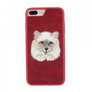 Кожаный чехол Polo Savanna Persian Paw красный для iPhone 8 Plus/7 Plus