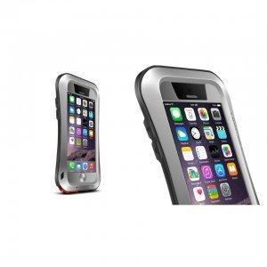 Чехол спорт и экстрим для Apple iPhone 6 - Love Mei Powerful серебристый