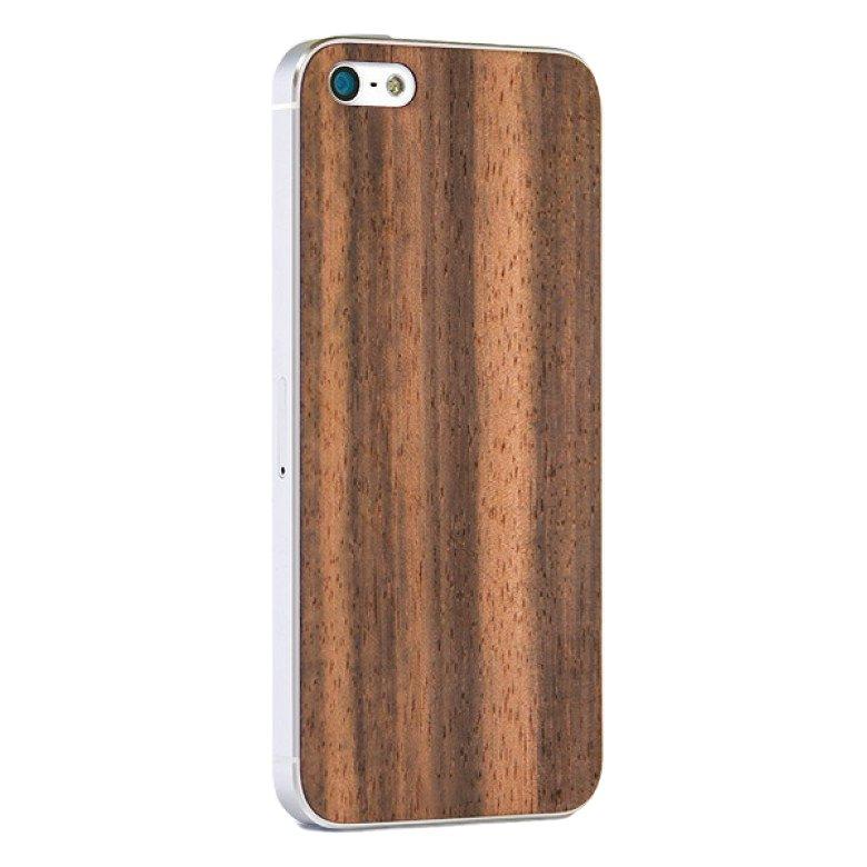 Деревянная наклейка для iPhone 5/5S/SE