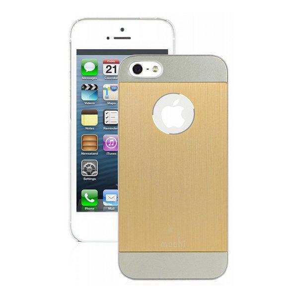 Чехол-накладка для Apple iPhone 5S/5 - Moshi iGlaze Armour Metal золотистый