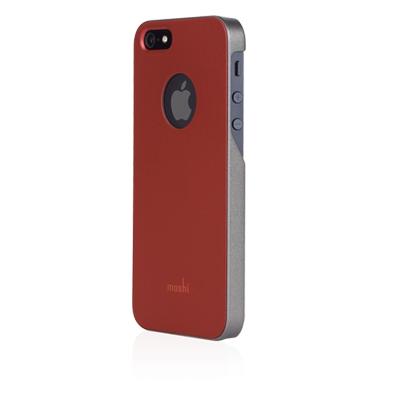 Чехол-накладка для Apple iPhone 5S/5 - Moshi iGlaze красный