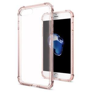 Полупрозрачный чехол Spigen Crystal Shell розовый для iPhone 8 Plus/7 Plus