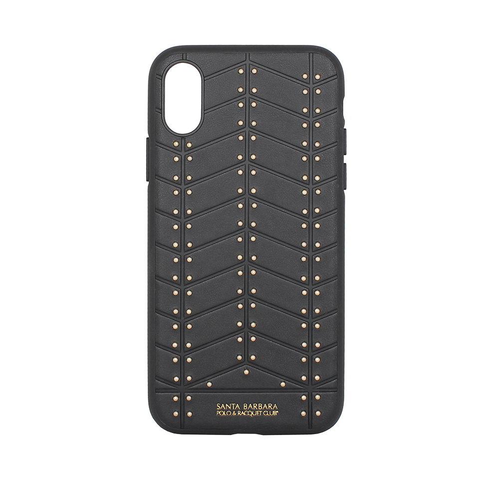 Кожаный чехол Polo Armor черный для iPhone X/XS
