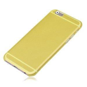 Чехол-накладка для Apple iPhone 6 Plus - Ultrathin Frosted желтый