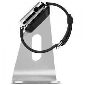 Док-станция для Apple Watch - Spigen S330 серебристая