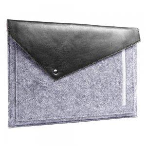 """Чехол-конверт Gmakin GM13 серый + чёрный для MacBook Air 13""""/Pro 13""""/ Pro 13"""" Retina"""