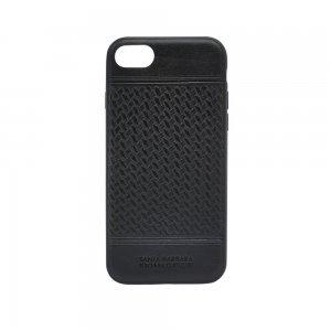 Кожаный чехол Polo Chevron черный для iPhone 8 Plus/7 Plus