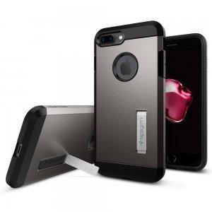 Защитный чехол с подставкой Spigen Tough Armor серый для iPhone 8 Plus/7 Plus