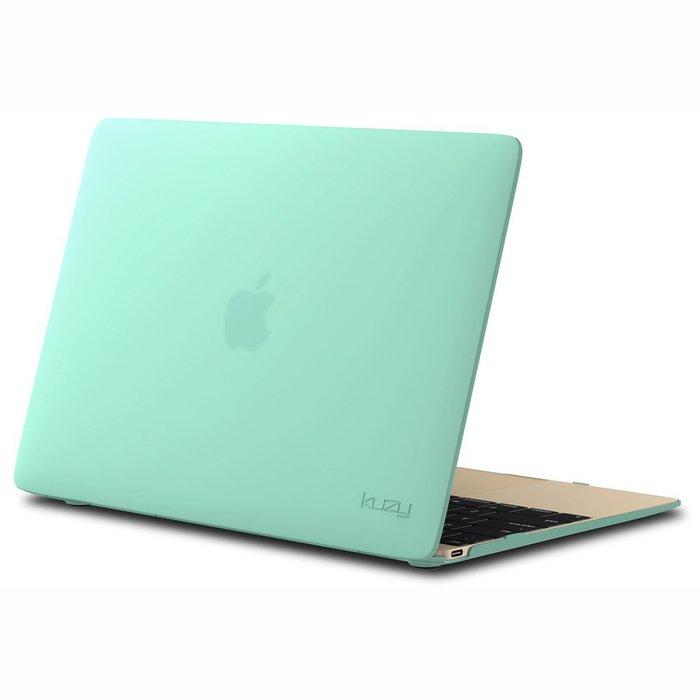 "Чехол-накладка для Apple MacBook 12"" - Kuzy Rubberized Hard Case зеленый"