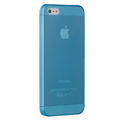 Чехол-накладка для Apple iPhone 5S/5 - Ozaki O!coat 0.3 Jelly синий