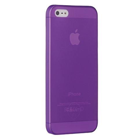 Чехол-накладка для Apple iPhone 5S/5 - Ozaki O!coat 0.3 Jelly фиолетовый