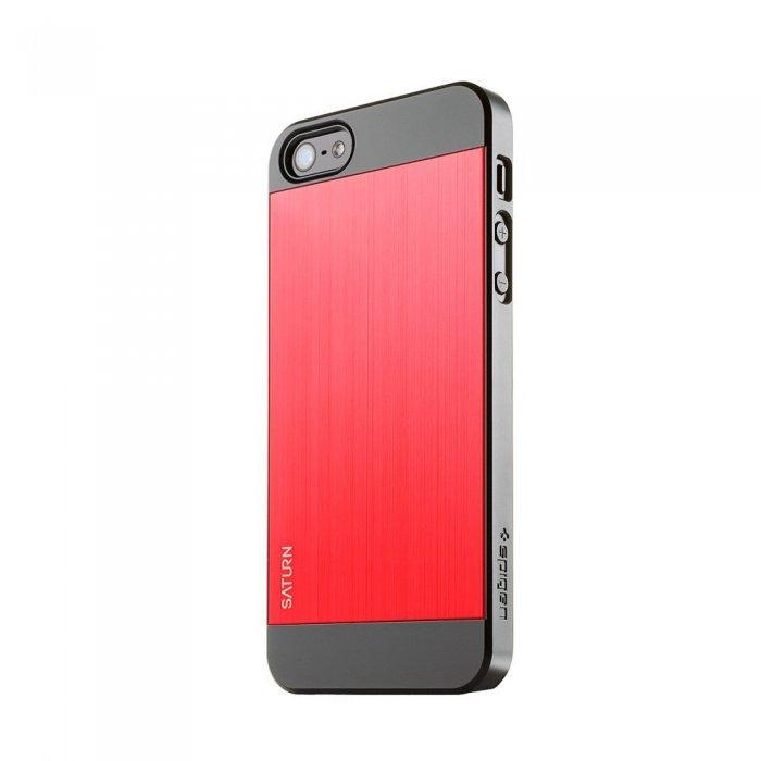 Чехол-накладка для Apple iPhone 5S/5 - SGP Saturn красный + чёрный