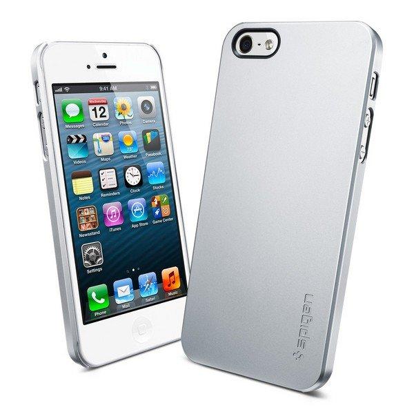 Чехол-накладка для Apple iPhone 5S/5 - SGP Ultra Thin Air серебристый