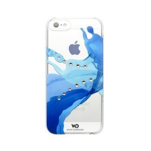 Чехол-накладка для Apple iPhone 5S/5 - White Diamonds Liquids синий