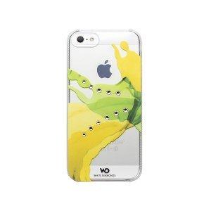 Чехол-накладка для Apple iPhone 5S/5 - White Diamonds Liquids желтый + зеленый