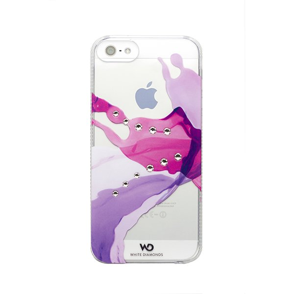 Чехол-накладка для Apple iPhone 5S/5 - White Diamonds Liquids розовый