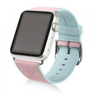 Ремешок Baseus Colorful розовый + синий для Apple Watch 42/44 мм