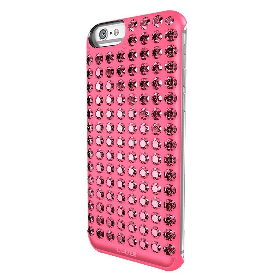 Чехол со стразами Lucien Elements Chrome розовый для iPhone 6/6S