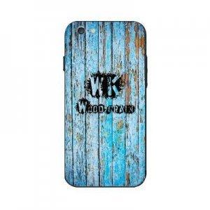 Чехол с рисунком WK Wood Grain голубой для iPhone 6/6S