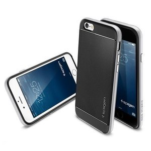 Чехол-накладка для Apple iPhone 6 - SGP Neo Hybrid серебристый