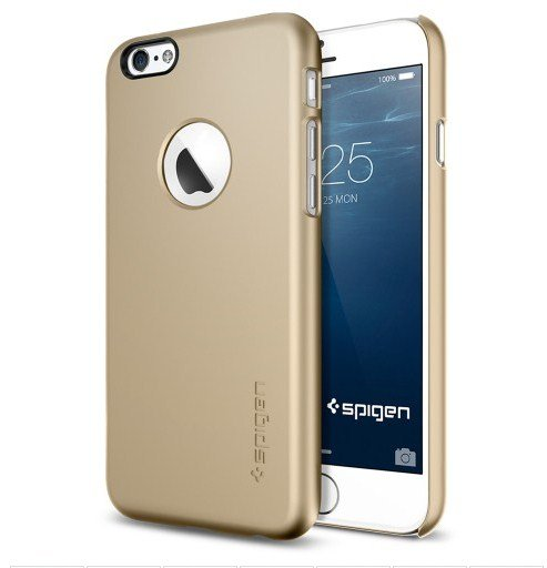 Чехол-накладка для Apple iPhone 6 - SGP Thin Fit A золотистый
