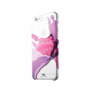 Чехол-накладка для Apple iPhone 6 - White Diamonds Liquids розовый