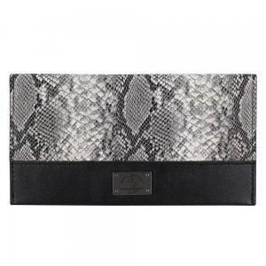 Кожаный чехол-кошелек Polo Piton черный для iPhone 5/5S/SE/6/6S/7/7 Plus/8/8 Plus/X