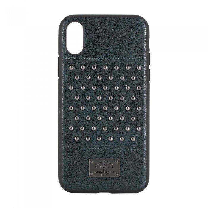 Кожаный чехол Polo Staccato зелёный для iPhone X