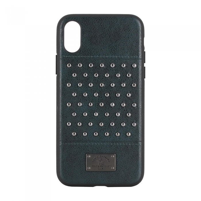 Кожаный чехол Polo Staccato зелёный для iPhone X/XS