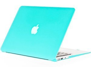 "Чехол-накладка для Apple MacBook Air 13"" - Kuzy Rubberized Hard Case голубой (Teal)"