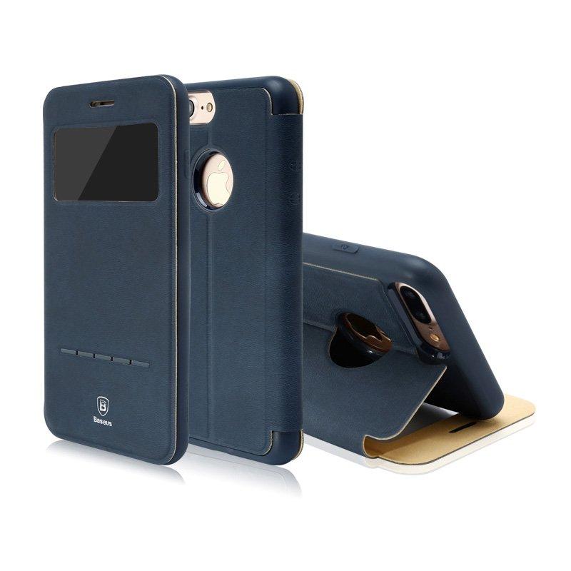 Чехол (книжка) с подставкой Baseus Simple синий для iPhone 8 Plus/7 Plus