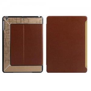 Чехол с орнаментом iBacks Flame коричневый для iPad Air/iPad (2017)