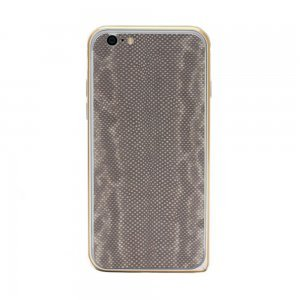 Наклейка для Apple iPhone 6/6S - кожа змеи, серая
