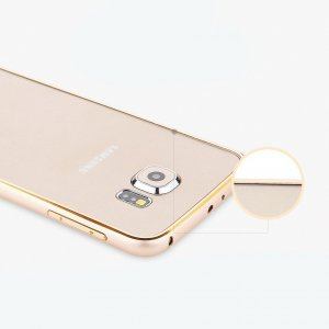 Чехол-бампер для Samsung Galaxy S6 - Totu Mellow Element золотистый