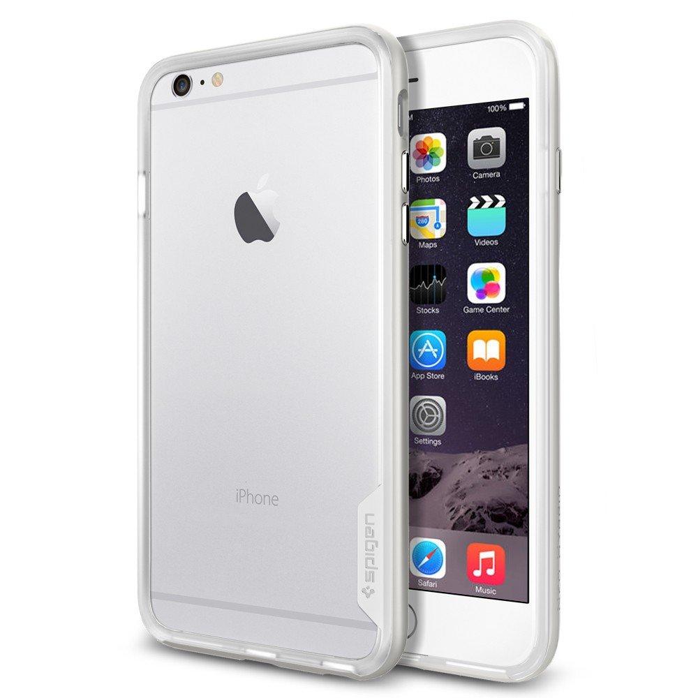 Чехол-бампер для iPhone 6 Plus/6S Plus - Spigen Case Neo Hybrid EX Series серебристый