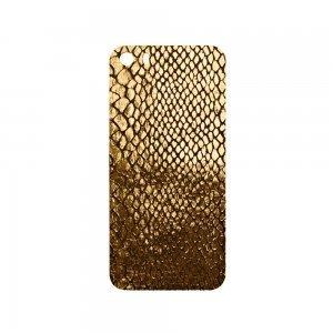 Наклейка для Apple iPhone 5/5S - кожа, золотистая