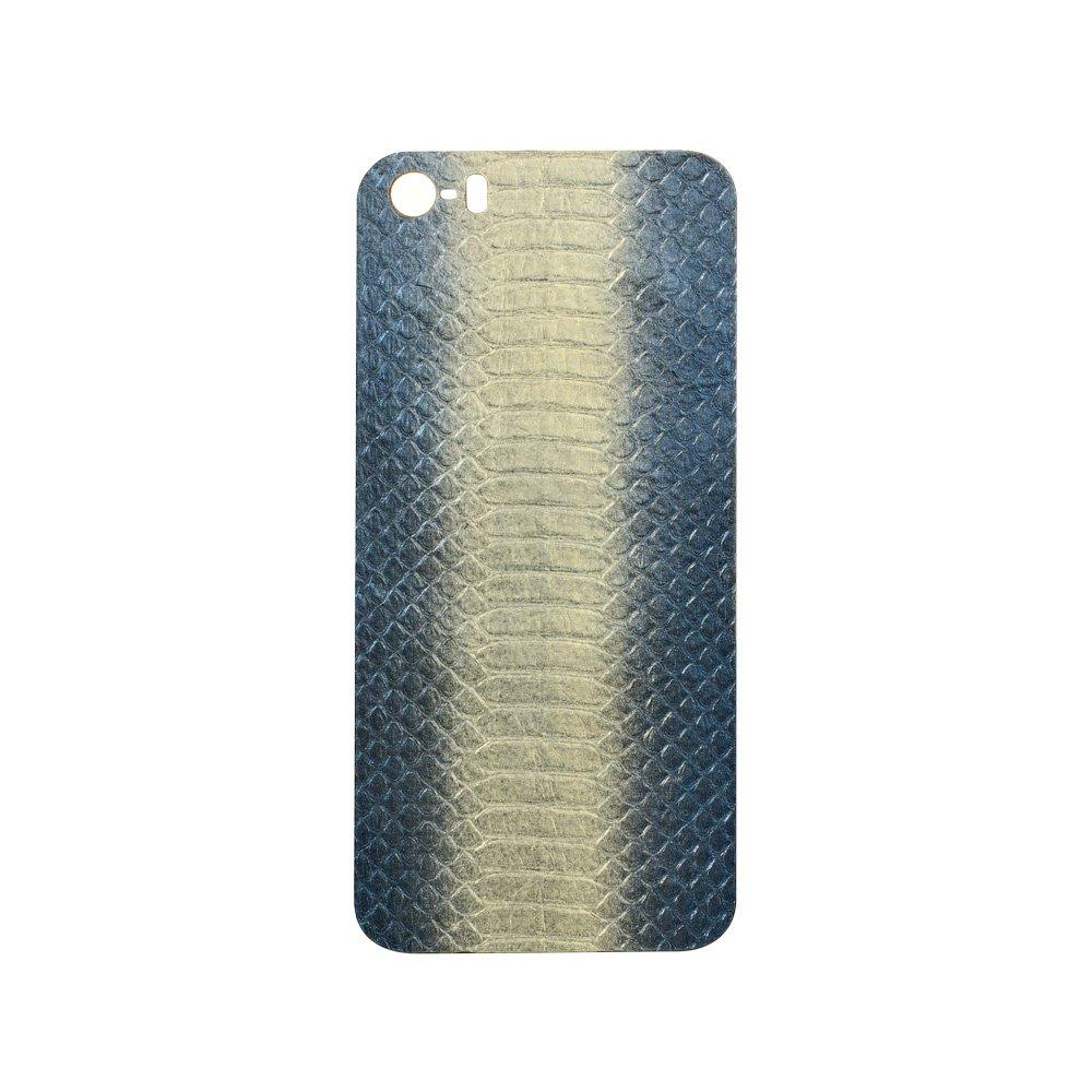Наклейка для Apple iPhone 5/5S - кожа змеи, синяя