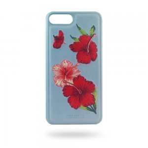 Кожаный чехол Polo Hawaii голубой для iPhone 8 Plus/7 Plus